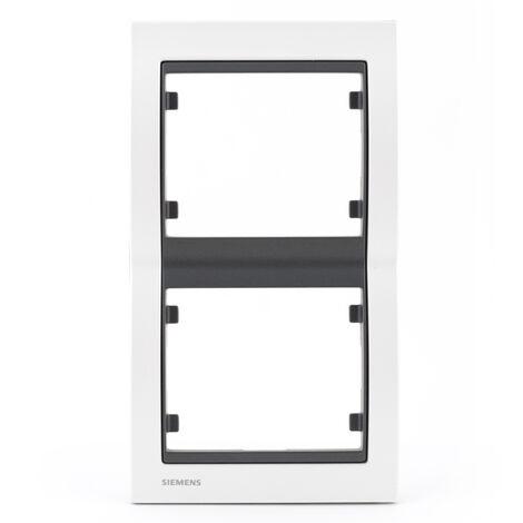 Plaque Double Verticale Métal Perle Blanc Delta IRIS - SIEMENS