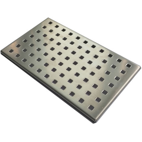 Plaque en acier inox pour Bonde de douche Blend
