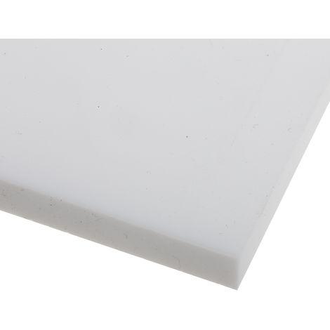 Plaque en fluoroplastique PTFE opaque, 300mm x 300mm x 15mm