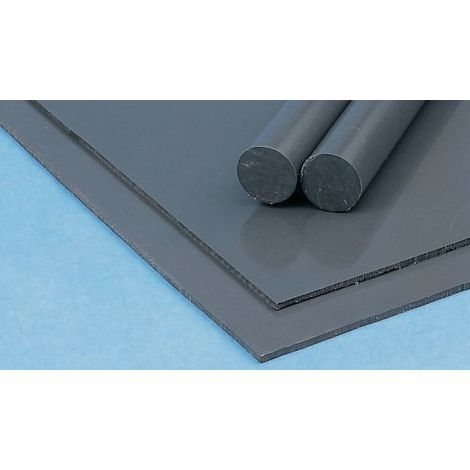 Plaque en fluoroplastique PTFE opaque, 300mm x 300mm x 20mm