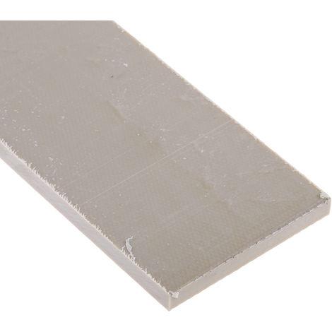 Plaque en fluoroplastique PTFE opaque, 300mm x 300mm x 6mm