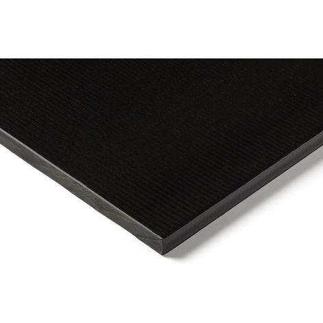 Plaque en plastique renforcé de fibre de verre GRP noir, 500mm x 300mm x 16mm