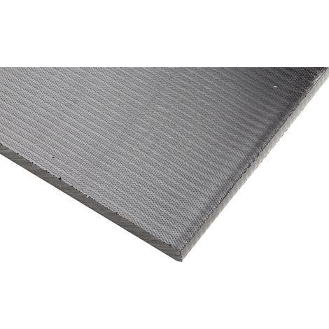 Plaque en plastique renforcé de fibre de verre GRP noir, 500mm x 305mm x 10mm