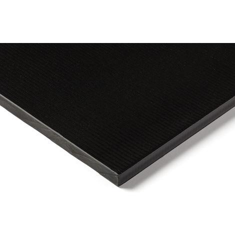 Plaque en plastique renforcé de fibre de verre GRP noir, 500mm x 305mm x 12mm