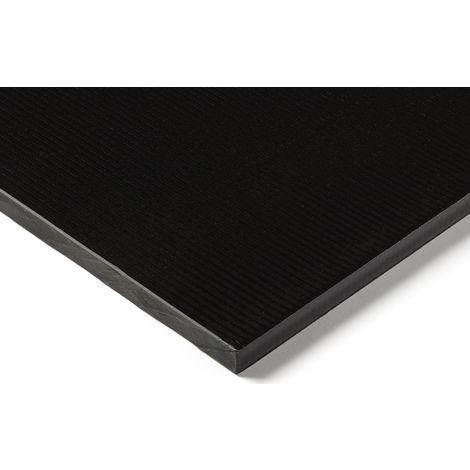 Plaque en plastique renforcé de fibre de verre GRP noir, 500mm x 305mm x 25mm