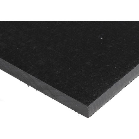 Plaque en plastique renforcé de fibre de verre GRP noir, 500mm x 305mm x 8mm