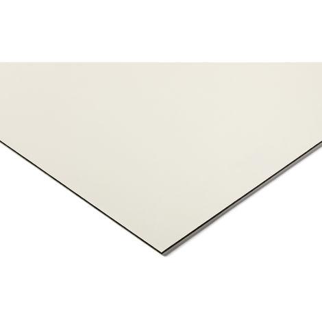 Plaque en polycarbonate PC noir, blanc, 1.3m x 500mm x 1.5mm