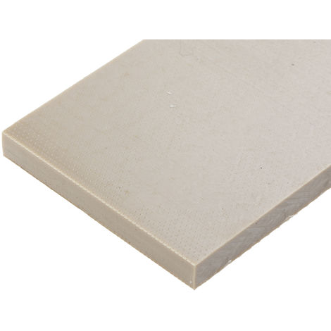 Plaque en polyétheréthercétone PEEK beige, 500mm x 50mm x 8mm