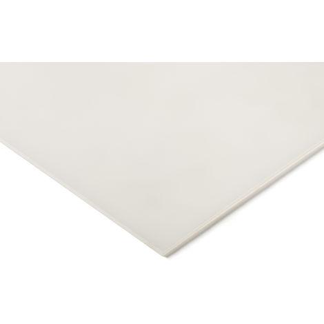 Plaque en polyéthylène PE blanc, 1m x 500mm x 10mm