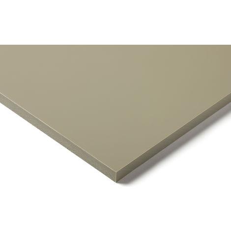 Plaque en polypropylène PP Beige, Gris, 1m x 500mm x 10mm