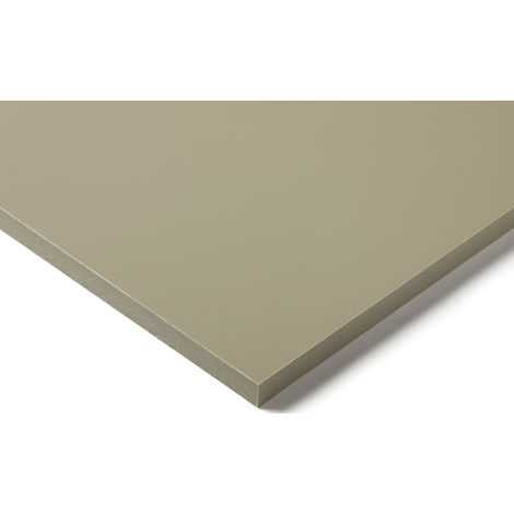 Plaque en polypropylène PP Beige, Gris, 1m x 500mm x 20mm