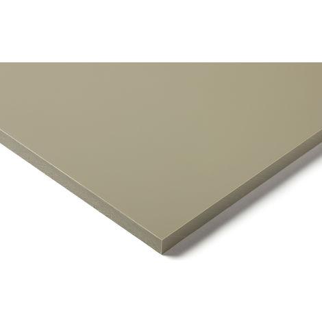 Plaque en polypropylène PP Beige, Gris, 1m x 500mm x 25mm