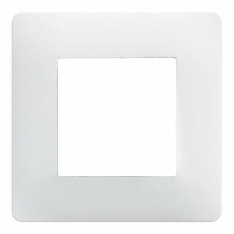 Plaque Essensya - 1 poste - Blanc - Hager