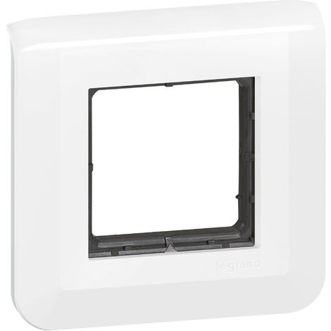 """main image of """"Plaque et support Mosaic 2 modules - Composable - Fixation à vis - Blanc - Legrand"""""""
