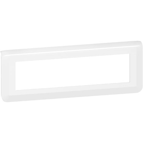 "main image of ""Plaque et support Mosaic 8 modules composable - Entraxe 71mm - Horizontal -Blanc - Legrand"""
