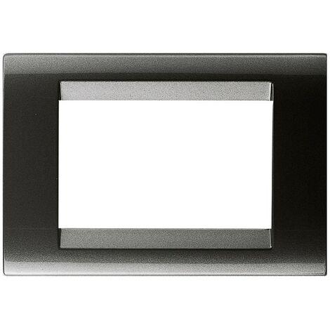 """main image of """"Plaque Gewiss Playbus 3 places Ardoise métallisée GW32003"""""""