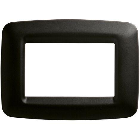 """main image of """"Plaque Gewiss Playbus 3 places noire GW32303"""""""