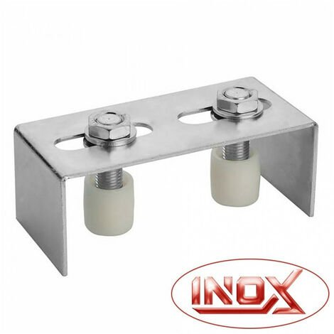 Plaque guide simple - 2 olives - inox