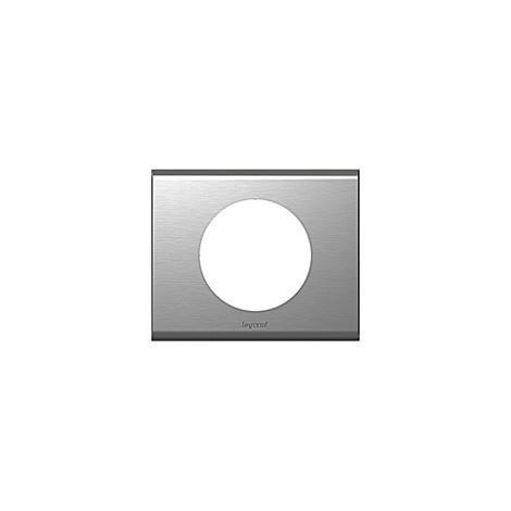 "main image of ""Plaque inox brosse Legrand celiane 1 poste avec support"""