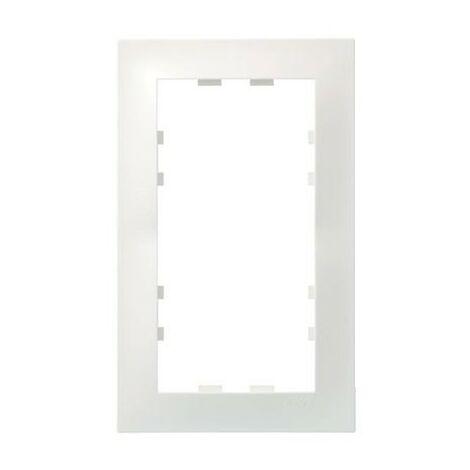 Plaque Kallysta - 2 postes - Verticale - Blanc