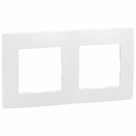 Plaque Legrand Niloe 2 poste Pur Blanc