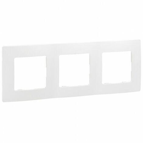 Plaque Legrand Niloe 3 poste Pur Blanc