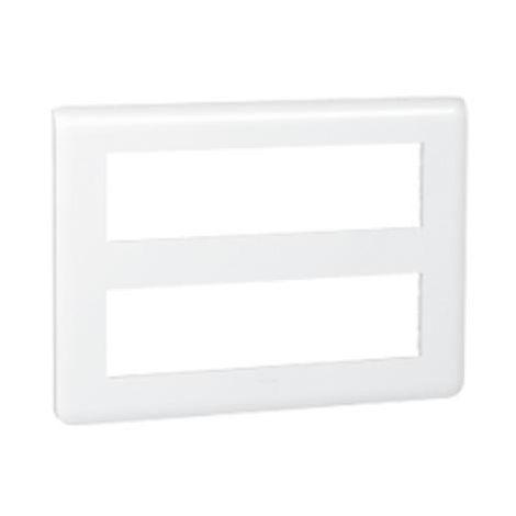 Plaque Mosaic 2x8 modules - blanc - Legrand