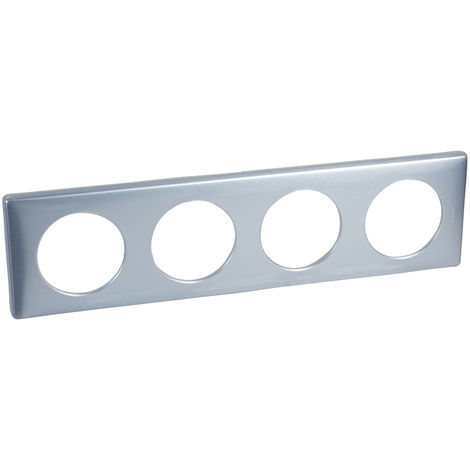 Plaque n3 4p bleu gris anodise