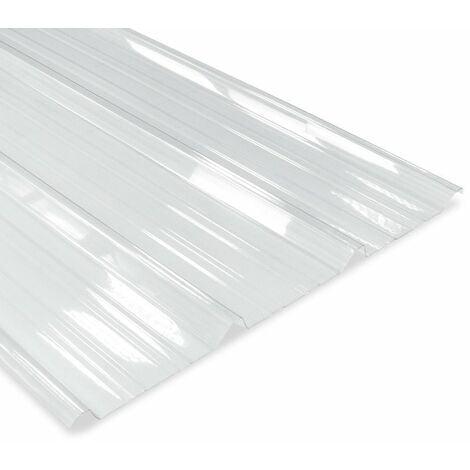 Plaque nervurée Polycarbonate translucide 2100x1000 mm AXEL®
