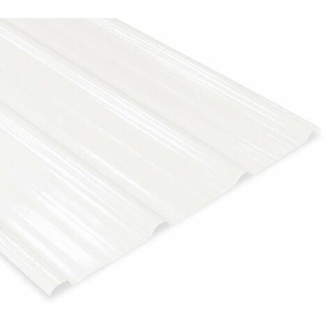 Plaque nervurée Polyester translucide 2100x840 mm ELDA®