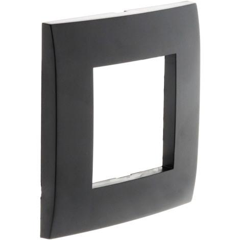 """main image of """"Plaque Noire mat simple avec support transparent - Simplea"""""""