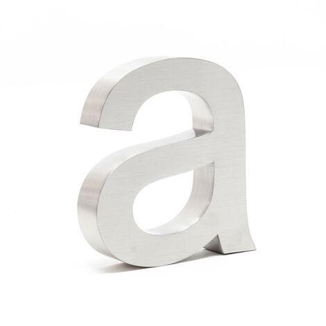"""Plaque Numéro Maison Lettre """"a"""" 3D 15cm Acier inoxydable Résistant Intempéries Matériel Fixation"""