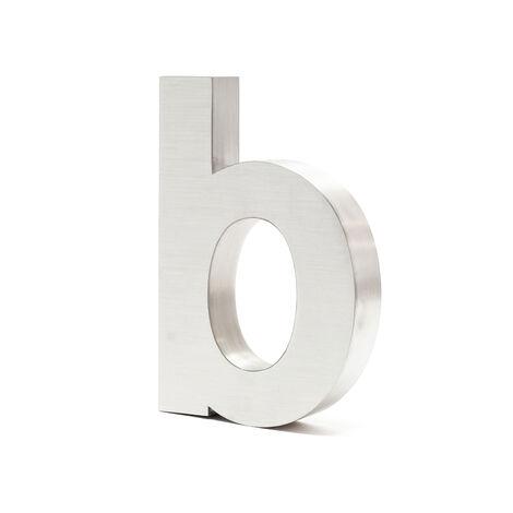 """Plaque Numéro Maison Lettre """"b"""" 3D 20cm Acier inoxydable Résistant Intempéries Matériel Fixation"""