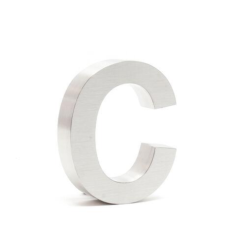 """Plaque Numéro Maison Lettre """"c"""" 3D 15cm Acier inoxydable Résistant Intempéries Matériel Fixation"""