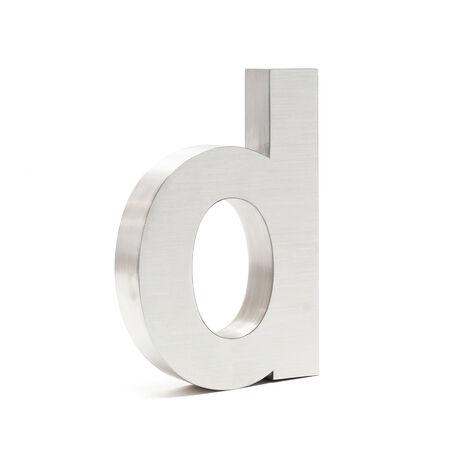 """Plaque Numéro Maison Lettre """"d"""" 3D 20cm Acier inoxydable Résistant Intempéries Matériel Fixation"""