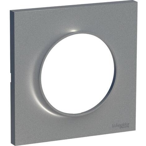 Plaque Odace Styl - 1 Poste - Alu - Schneider Electric
