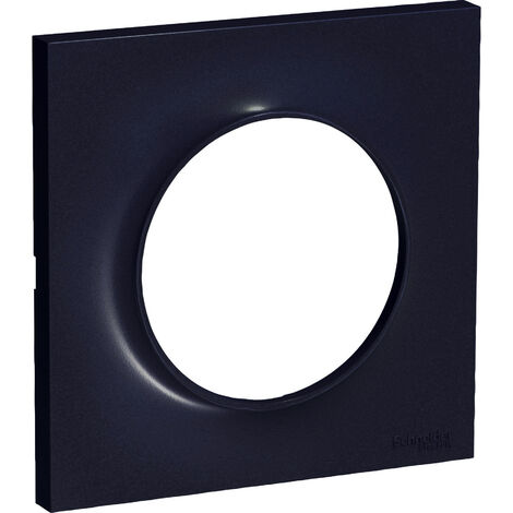 Plaque Odace Styl - 1 poste - Anthracite - Schneider Electric