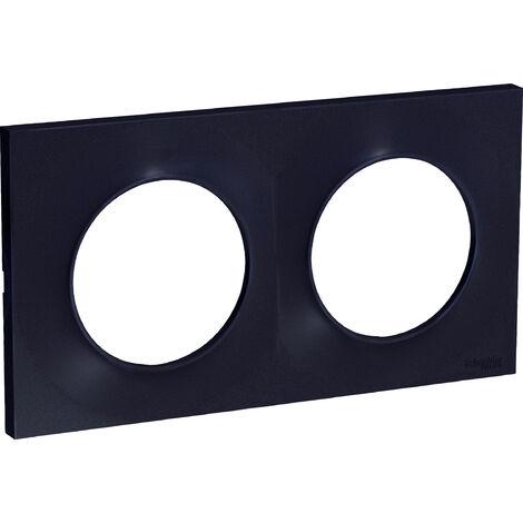 Plaque Odace Styl - 2 postes horiz./vert. -Entraxe 71mm - Anthracite - Schneider Electric