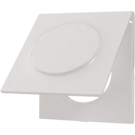 Plaque Odace Styl Pratic avec couvercle intégré pour prise 1 poste - Blanc