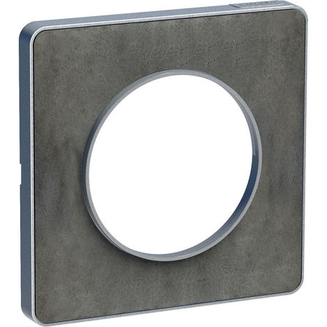 Plaque Odace Touch 1 poste - Ardoise liseré aluminium