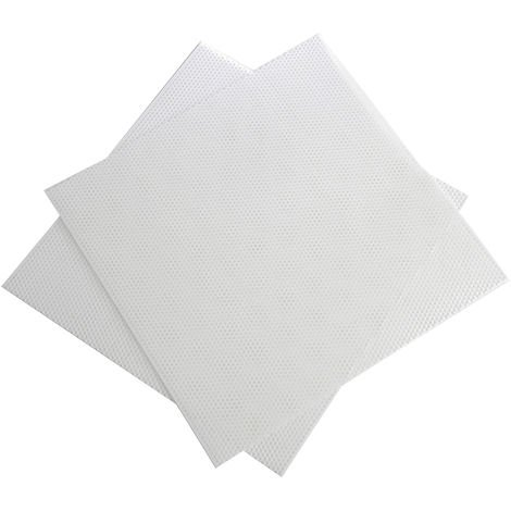 Plaque perforée en polypropylène PP, 6,4 mm Hole, 500mm x 500mm x 2mm