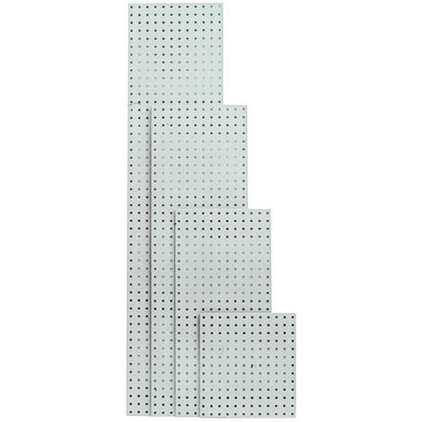Plaque perforée 495x457 mm gris clair RAL 7035