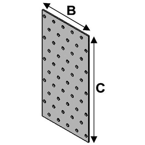 Plaque perforée (l x L x ép) 100 x 400 x 2,0 mm - AL-PP100400 - Alsafix - -