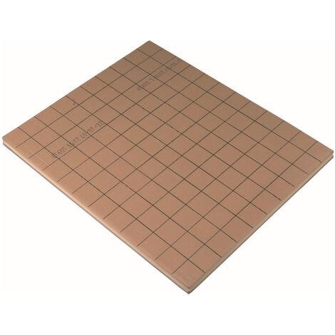 Plaque plane pour plancher chauffant 1200x1000 ep 54, la plaque