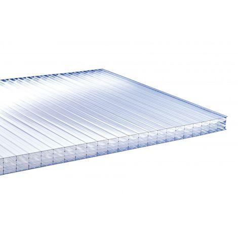 PLAQUE POLYCARBONATE ALVÉOLAIRE 32MM - Coloris - Clair, Epaisseur - 32 mm, Largeur - 98 cm, Longueur - 3 m, Surface couverte en m² - 2,94