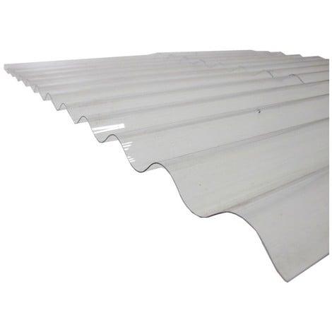 Plaque polycarbonate ondulée translucide (PO 76/18 - petite onde)