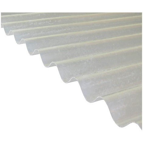 "main image of ""Plaque polyester ondulée toit translucide (PO 76/18 - petite onde)"""