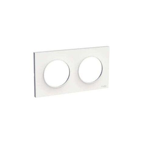 Plaque pour interrupteur/prise Blanc Mat 2 à 4 Postes Schneider Odace Touch - SCHNEIDER ELECTRIC