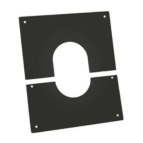 Plaque propreté en deux parties APOLLO PELLETS Ø125 Noir - Plaque de propreté - concentrique - pour granulé (diamètre 80 mm intérieur /125 extérieur)