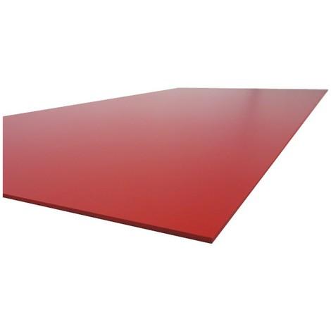 PLAQUE PVC ROUGE 24 x 20 cm  ép 2 mm